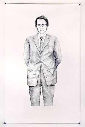 how to draw a man in a suit easy
